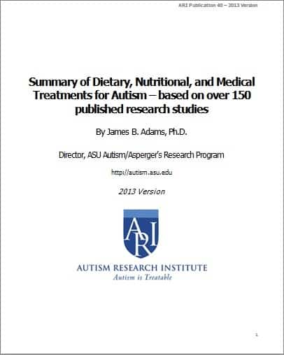 Summary: Diet, Nutrition, Medical Treatments | Autism